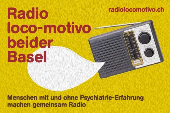 Das Foto zeigt den Radio loco-motivo-Flyer.