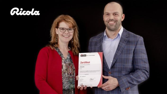 Das Foto zeigt Nicole Didio, HR Manager und Bernhard Stalder, HR Specialist Talent Acquisition und iPunkt-Beauftragter
